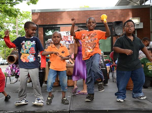 kids dancing during Juneteenth celebration at Yesler