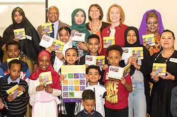 Community members at Somali book launch