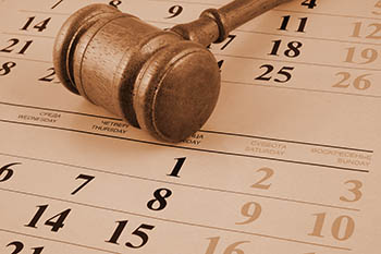 gavel on a calendar