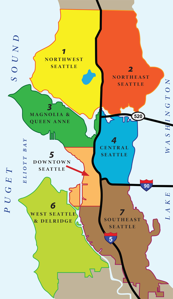 Seattle Neighborhoods Map Seattle Housing Authority - Seattle map neighborhood guide