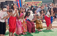 People celebrating at festival