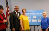 Senator Patty Murray and others at digital equity roundtable discussion