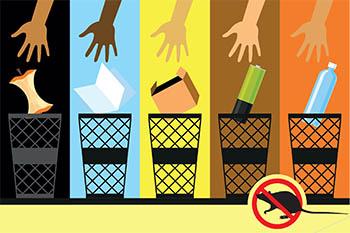 illustration of sorting trash